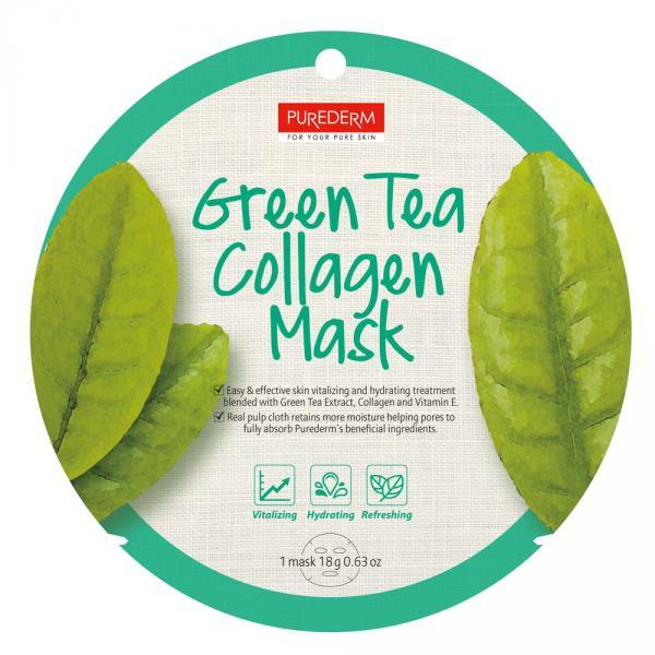 PureDerm Maska Green Tea 18g