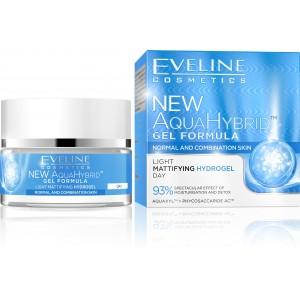 EVELINE COSMETICS NEW AQUAHYBRID Matný denný hydrogél 50ml