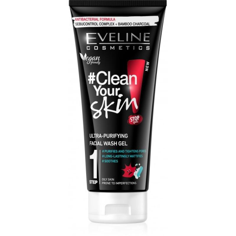 +EVELINE CLEAN YOUR SKIN - ULTRA ČISTIACÍ GÉL NA TVÁR 200ML