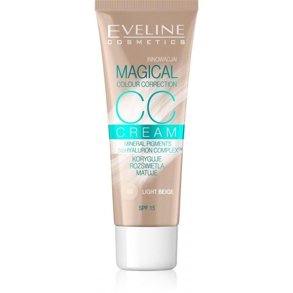 EVELINE MAGICAL CC krycí krém 50-light beige 30ml