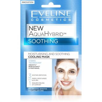 EVELINE NEW AQUAHYBRID - Upokojujúca maska 3v1 2x5ml
